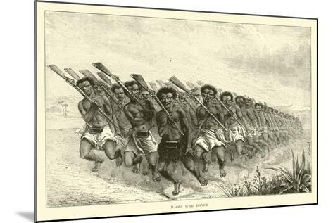 Maori War Dance--Mounted Giclee Print