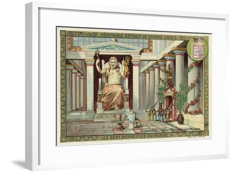 Statue of Zeus at Olympia, Greece--Framed Art Print