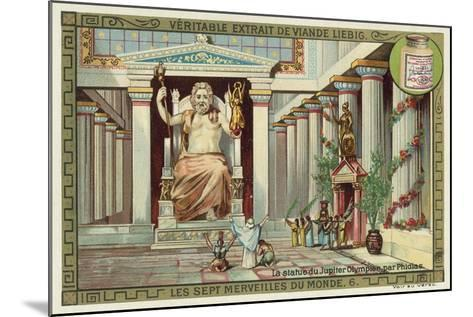 Statue of Zeus at Olympia, Greece--Mounted Giclee Print