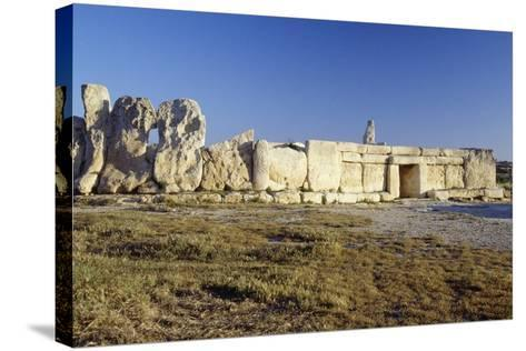 Megalithic Temple of Hagar Qim--Stretched Canvas Print