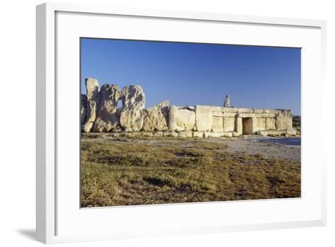 Megalithic Temple of Hagar Qim--Framed Art Print