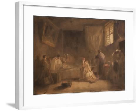 The Death of Poussin-Francois-Marius Granet-Framed Art Print