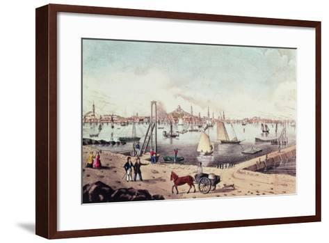 View of Boston--Framed Art Print