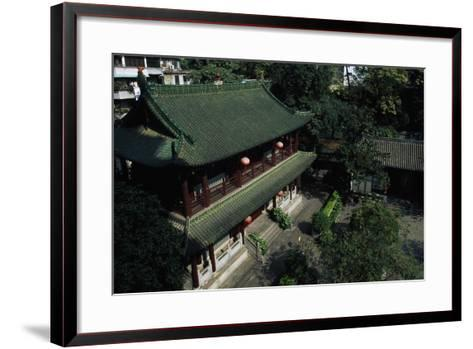 Buddhist Temple of the Six Banyan Trees--Framed Art Print