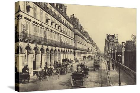 Rue De Rivoli--Stretched Canvas Print