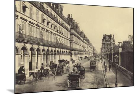 Rue De Rivoli--Mounted Photographic Print