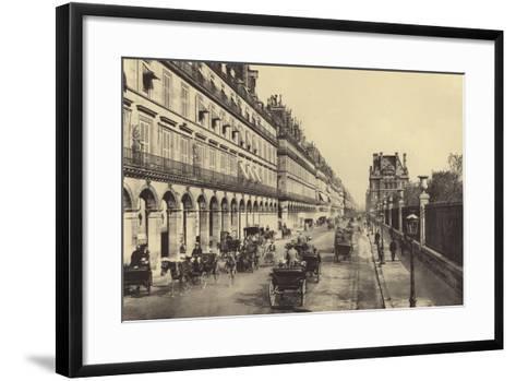 Rue De Rivoli--Framed Art Print