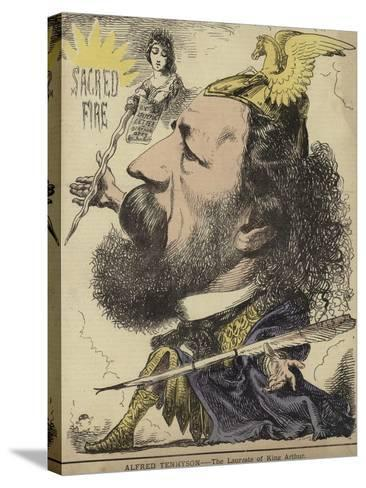 Alfred Tennyson - the Laureate of King Arthur--Stretched Canvas Print