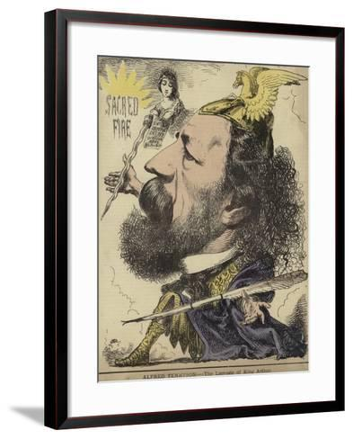 Alfred Tennyson - the Laureate of King Arthur--Framed Art Print