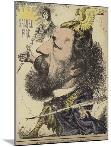 Alfred Tennyson - the Laureate of King Arthur--Mounted Giclee Print