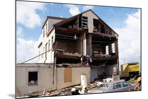 Damaged Building after Hurricane Andrew, 1992--Mounted Photographic Print