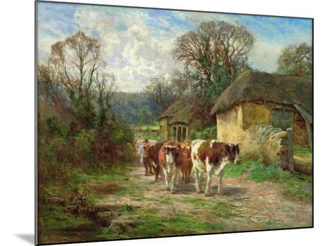 By the Barn-Charles James Adams-Mounted Giclee Print