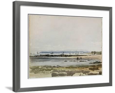 Beach Scene-Samuel Prout-Framed Art Print