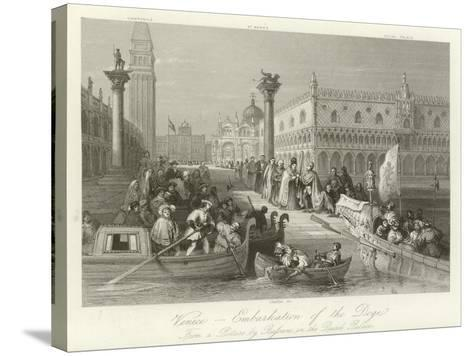 Venice - Embarkation of the Doge--Stretched Canvas Print