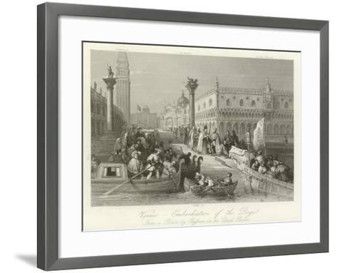 Venice - Embarkation of the Doge--Framed Art Print