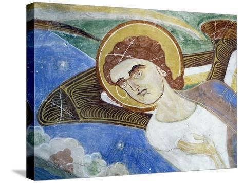 Frescoes, Crypt of Monte Maria Abbey, Near Mals--Stretched Canvas Print
