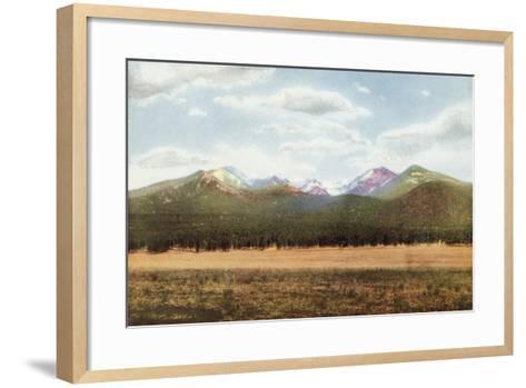 San Francisco Mountains, Arizona--Framed Art Print