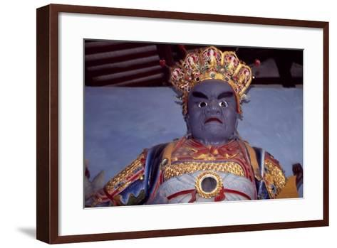 Statue from Ling Yun Temple, Leshan--Framed Art Print