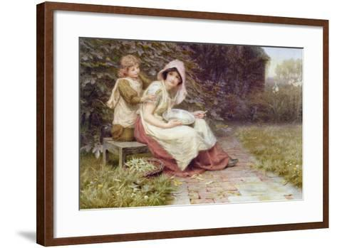 Shelling Peas-Constance Phillott-Framed Art Print