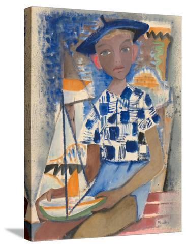 Boy with a Boat-Anneliese Everts-Stretched Canvas Print