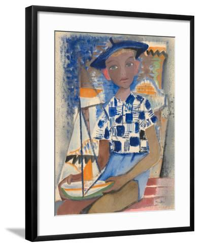 Boy with a Boat-Anneliese Everts-Framed Art Print