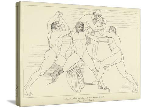 Prometheus Chained-John Flaxman-Stretched Canvas Print