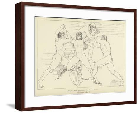 Prometheus Chained-John Flaxman-Framed Art Print