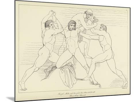 Prometheus Chained-John Flaxman-Mounted Giclee Print
