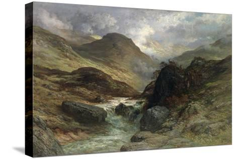 Gorge in the Mountains, 1878-Gustave Dor?-Stretched Canvas Print