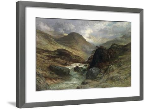 Gorge in the Mountains, 1878-Gustave Dor?-Framed Art Print
