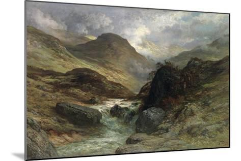 Gorge in the Mountains, 1878-Gustave Dor?-Mounted Giclee Print