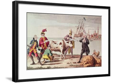 Indian Cutting the Horns of a Cow--Framed Art Print