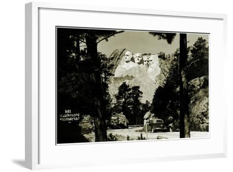 Mount Rushmore Memorial, C.1941-42--Framed Art Print