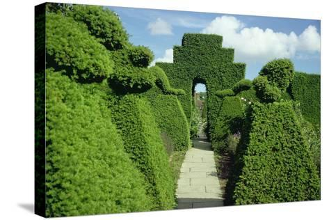 Topiary Garden, Designed-Sir Edwin Lutyens-Stretched Canvas Print