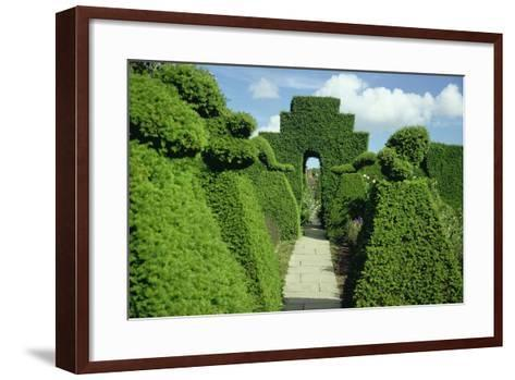 Topiary Garden, Designed-Sir Edwin Lutyens-Framed Art Print