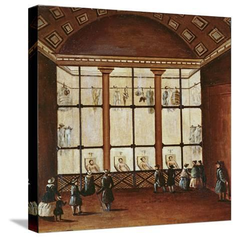 La Morgue', Largest Morgue in Paris, 1830-40--Stretched Canvas Print