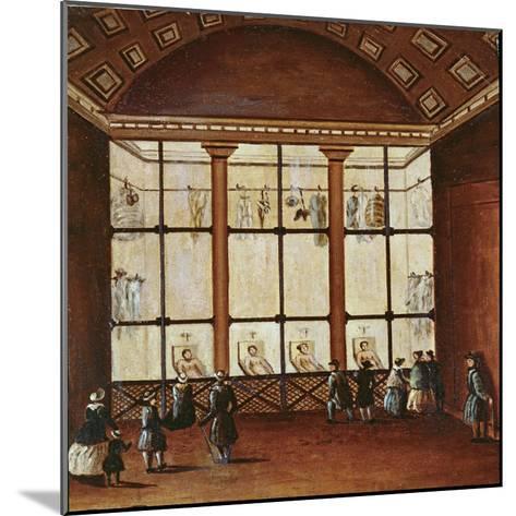 La Morgue', Largest Morgue in Paris, 1830-40--Mounted Giclee Print