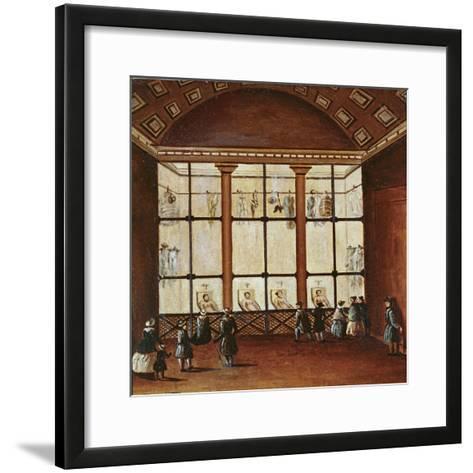 La Morgue', Largest Morgue in Paris, 1830-40--Framed Art Print