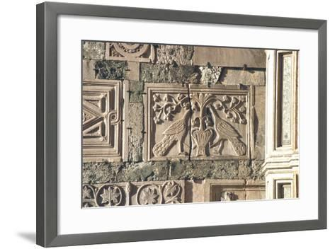 Carved Peacocks, Panel from the Exterior--Framed Art Print