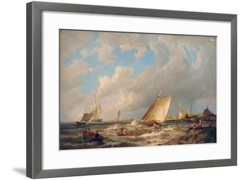 Maassluis, Holland-Pieter Cornelis Dommerson-Framed Art Print