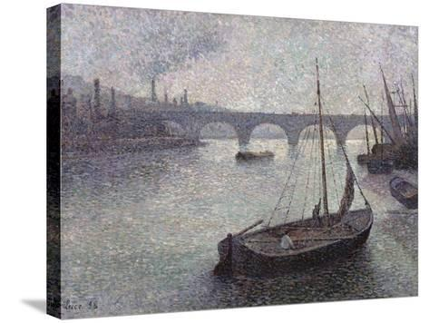 View of the Thames, 1893-Maximilien Luce-Stretched Canvas Print