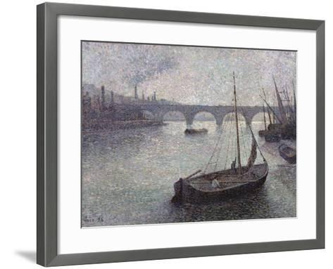 View of the Thames, 1893-Maximilien Luce-Framed Art Print