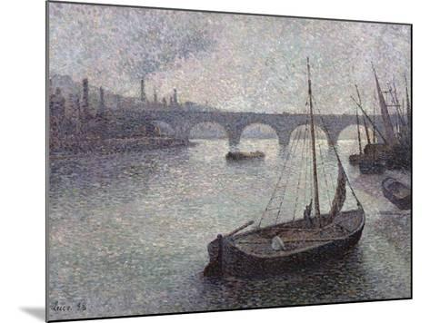 View of the Thames, 1893-Maximilien Luce-Mounted Giclee Print