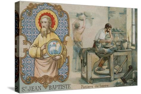 St John the Baptist and Potters--Stretched Canvas Print