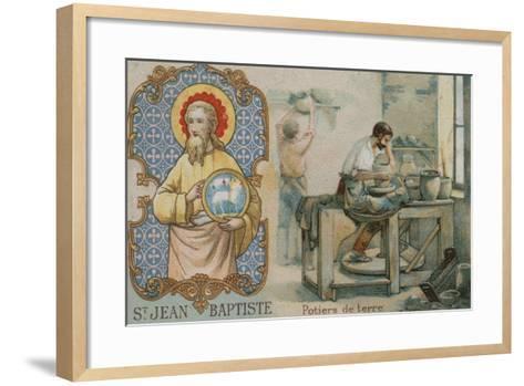 St John the Baptist and Potters--Framed Art Print