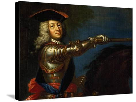 Portrait of George I of Great Britain--Stretched Canvas Print