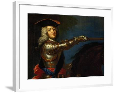 Portrait of George I of Great Britain--Framed Art Print