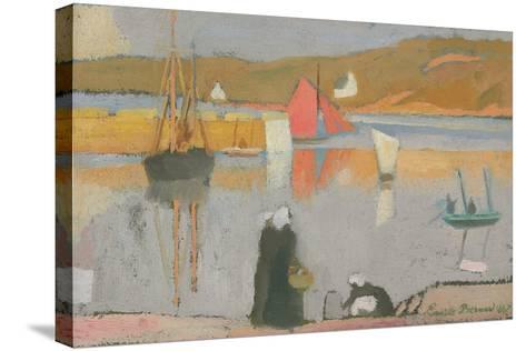 The Port at Saint-Briac, 1887-Emile Bernard-Stretched Canvas Print