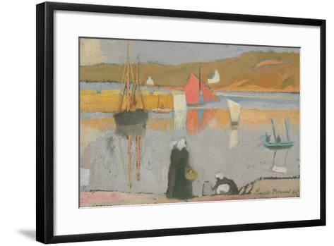 The Port at Saint-Briac, 1887-Emile Bernard-Framed Art Print