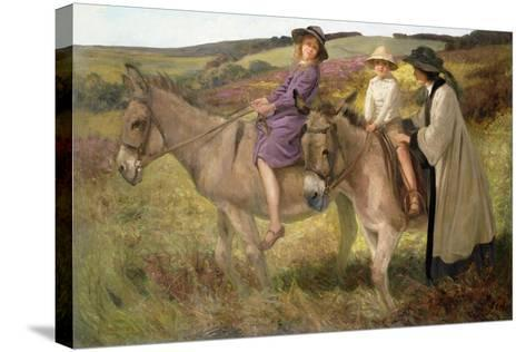The Donkey Ride, 1912-George Edmund Butler-Stretched Canvas Print